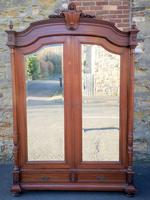 Large Antique French Walnut Armoire / Wardrobe