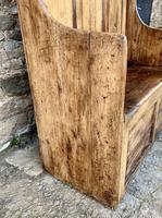 Antique Pine Panelled Box Settle (6 of 16)