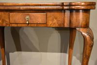 Walnut Card Table Fine Tapestry Interior (2 of 10)