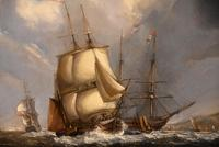 """Oil Painting by William Broome of Ramsgate """"Coastal Shipping"""" (3 of 7)"""
