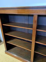 Edwardian Inlaid Open Bookcase (11 of 11)