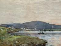 Andrew Gamley RSW - A Lochside Village Watercolour Painting (5 of 12)