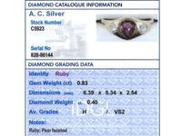 0.83ct Ruby & 0.40ct Diamond, 18ct Yellow Gold Dress Ring c.1930 (6 of 9)