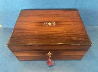 William IV Rosewood Jewellery Box with Mother of Pearl Inlay (2 of 12)