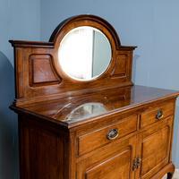 Walnut mirror back sideboard (3 of 6)