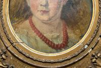 Fine Original 19th Century Circular Oil Portrait Painting of a Child for Reframing/tlc (6 of 11)
