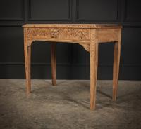 Raw Oak Sandblasted Side Table (3 of 11)