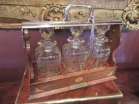 Antique Sheraton Inlaid Three Bottle Tantalus (11 of 12)