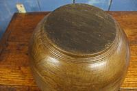 Antique Turned Wooden Bowl. 19th Century (5 of 8)