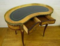 Quality satinwood & mahogany kidney shaped writing desk by h&l Epstein (3 of 8)