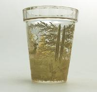 An Extremely Rare & Exceptional St Hubert Gilt Glass Beaker C.18th/early 19thc (4 of 10)
