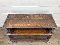 Antique Carved Oak Monk's Bench (7 of 10)