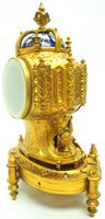 Antique 8 Day Ormolu Mantel Clock Sevres Gothic Knight Tower French Mantle Clock (2 of 8)
