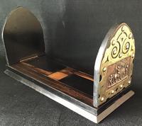 Victorian  Coromandel , Copper and  Brass  Book Slide. (4 of 6)