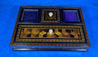 Victorian Rosewood & Tunbridge Ware Inkstand by Thomas Barton (15 of 24)