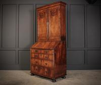 Queen Anne Walnut Bureau Bookcase (4 of 12)