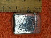 Antique Sterling Silver Hallmarked Vesta Case 1910, Samuel M Levi (7 of 9)