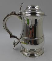 Antique George II Silver Lidded Tankard London 1754 Maker Thomas Whipham