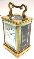 Good Antique French 8-day Repeat Carriage Clock Bevelled Case with Enamel Dial Gong Striking (13 of 15)