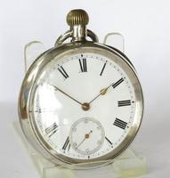 """Antique Silver Omega """"Anecdotes"""" Pocket Watch (2 of 5)"""
