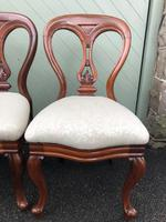 Antique Set of 4 Mahogany Balloon Back Dining Chairs (8 of 11)