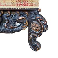 Large 19th Century Centre Foot Stool (3 of 3)