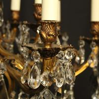 French Gilded Bronze & Crystal Chandelier (4 of 5)