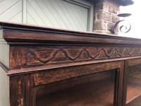 Antique Glazed Oak Barley Twist Bookcase (10 of 11)