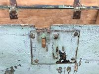 Antique Green Painted Wooden Trunk or Box (6 of 10)