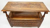 Early 20th Century  Oak Monks Bench (20 of 20)