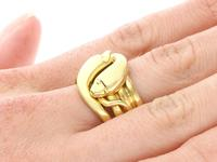 18ct Yellow Gold Snake Dress Ring - Antique Victorian 1898 (8 of 9)
