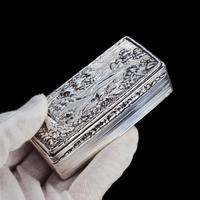 Georgian Solid Silver Snuff Box with Pheasant Scene - Thomas Shaw 1834 (18 of 28)