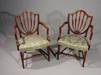 Exceptional Pair of George III Period Hepplewhite Elbow Chairs (4 of 7)