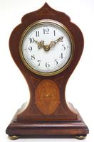 Super Art Nouveau Mantle Clock Tulip Floral Inlay 8 Day Mantle Clock (14 of 15)