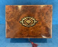 19th Century  French Burr Cedar Jewellery Box (9 of 11)
