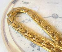 Antique Pocket Watch Chain 1920s Large Brass Fancy Link Albert New Old Stock (6 of 12)