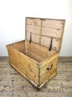Large Victorian Antique Pine Trunk (7 of 14)