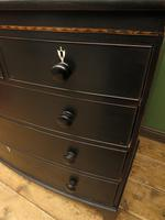 Antique Painted Black Bow Front Chest of Drawers, Gothic Shabby Chic (11 of 19)