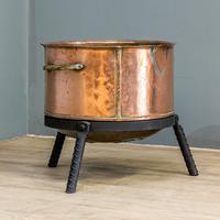 Victorian Copper Wood Bin