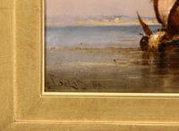 """Oil Painting by Charles John de Lacy """"Shipping in a Calm"""" (4 of 5)"""