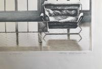 Original etching 'L'Atelier' by Peter Eastham. Signed dated and numbered 28/200.4 (2 of 3)