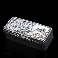 Georgian Solid Silver Snuff Box with Pheasant Scene - Thomas Shaw 1834 (3 of 28)