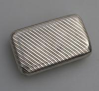 Good French Solid Silver Reeded Rectangular Snuff Box c.1830 (4 of 10)
