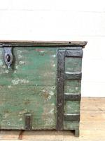 Distressed Painted Metal Bound Trunk (4 of 10)