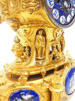 Antique 8 Day Ormolu Mantel Clock Sevres Gothic Knight Tower French Mantle Clock (8 of 8)