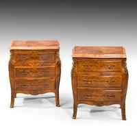 Unusual Pair of Kingwood Bombe Dwarf Commodes or Chests (2 of 5)