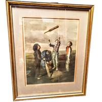 The Toss For Innings - Framed Colour Print of Painting by Robert James