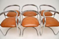1970's Chrome, Glass & Leather Dining Table & Chairs (11 of 12)