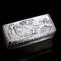 Georgian Solid Silver Snuff Box with Pheasant Scene - Thomas Shaw 1834 (6 of 28)