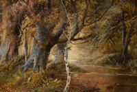 """Oil Painting Pair by F. Walters """"Spring on the Severn, Ringwood"""" """"Autumn, Ringwood"""" (4 of 10)"""
